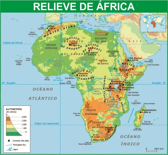 Relieve de Africa