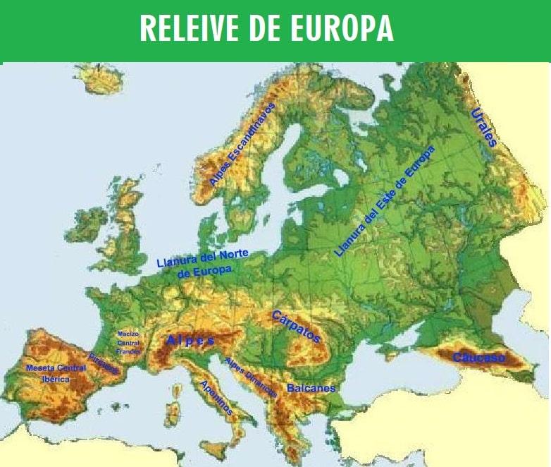 Mapa del relieve de Europa