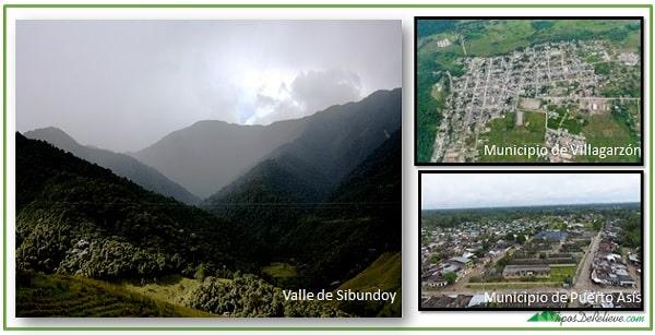 Relieve subregiones del departamento de Putumayo