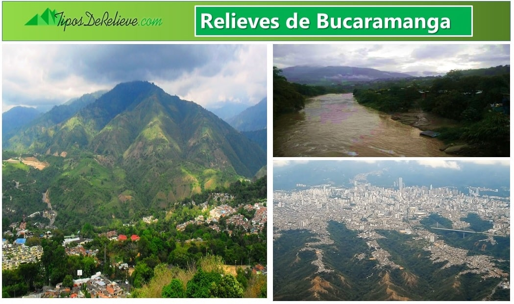 relieve de bucaramanga