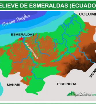 mapa del relieve de esmeraldas