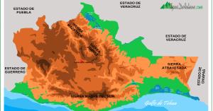 mapa del relieve de oaxaca