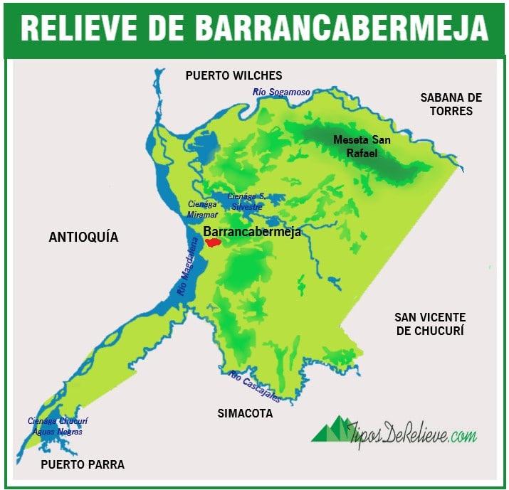 mapa del relieve de barrancabermeja