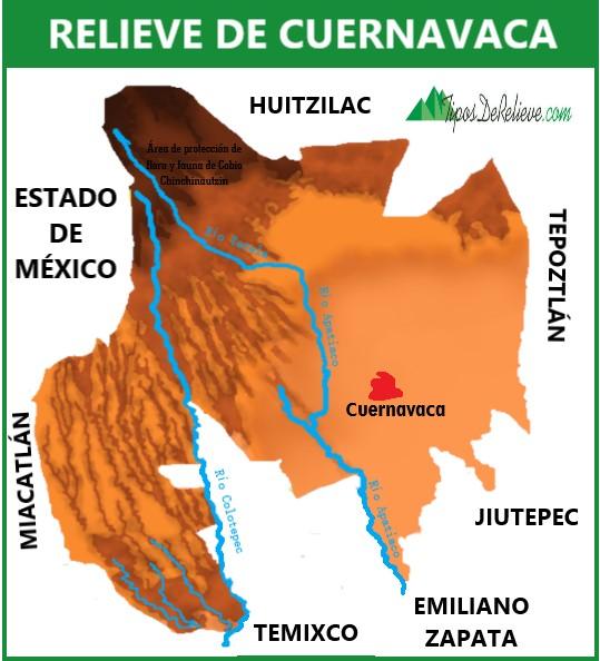 mapa del relieve de cuernavaca
