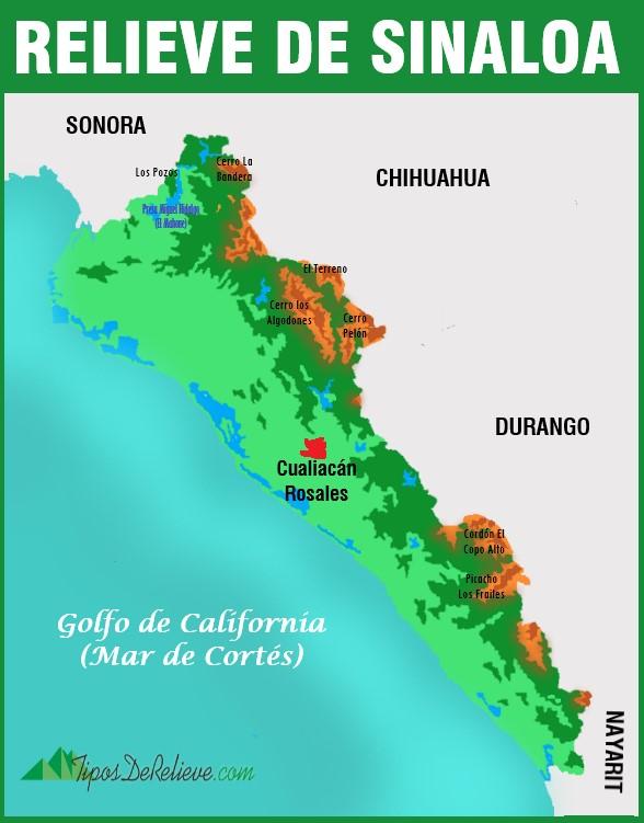 mapa del relieve de sinaloa