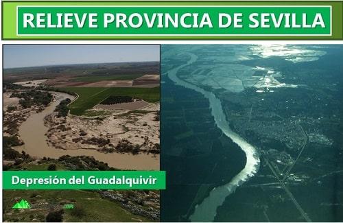 relieve de la provincia de sevilla
