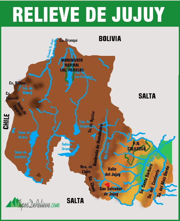 mapa del relieve de jujuy