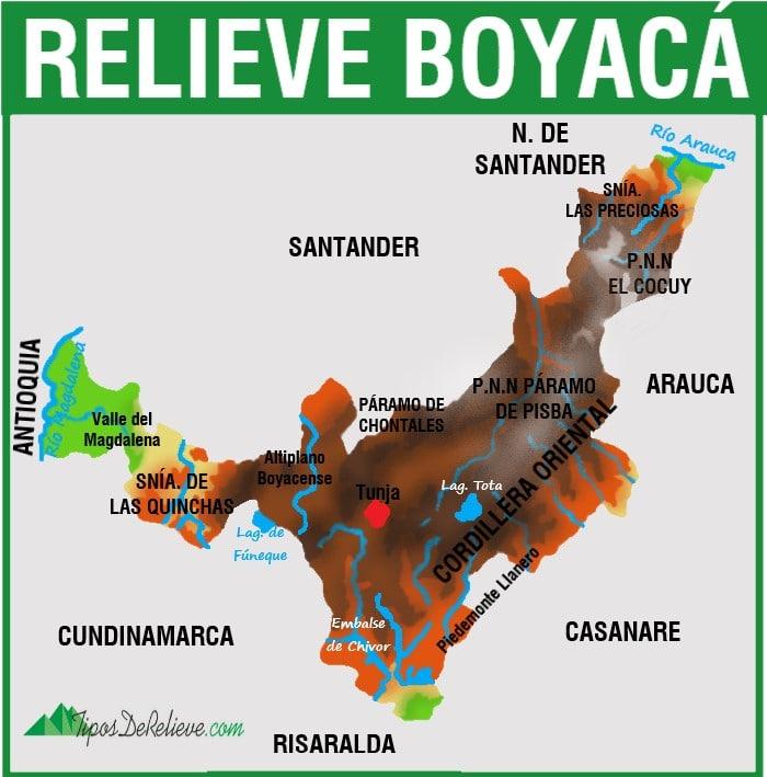 mapa del relieve de boyaca