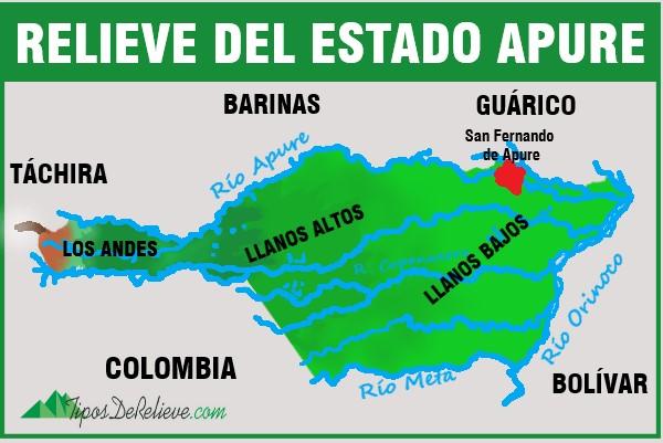 mapa del estado apure